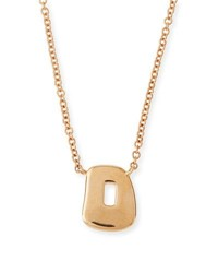 Mattioli Trapezoid Puzzle Pendant Necklace In 18K Rose Gold