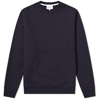 Norse Projects Vagn Classic Patch Logo Crew Sweat Blue