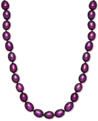 Honora Style Grape Purple Cultured Freshwater Pearl Necklace In Sterling Silver 7 8Mm
