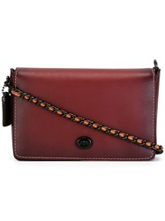 Coach Chain Strap Crossbody Bag Red
