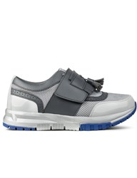Six Lee X Aqua Two Grey 2Tone Tessel Sneakers