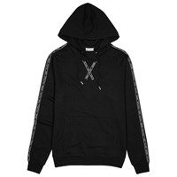 Christian Dior Homme Black Logo Print Hooded Cotton Sweatshirt