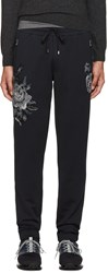 Dolce And Gabbana Navy Flowers Lounge Pants