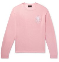 Rta Embroidered Wool And Cashmere Blend Sweater Pink