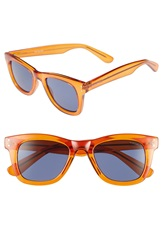Komono 'Allen' 50Mm Sunglasses Tangerine Blue Smoke