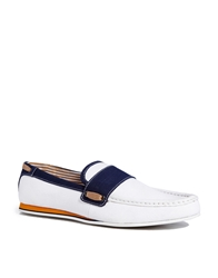 Frank Wright Loafer In Canvas White