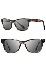 Shwood 'Canby' 54Mm Acetate And Wood Sunglasses Pearl Grey Elm Burl Grey