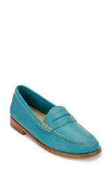 G.H. Bass Women's And Co. 'Whitney' Loafer Teal Leather