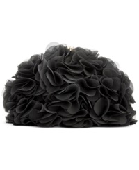 Blue By Betsey Johnson Fluff Clutch Black