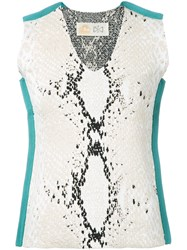 Theatre Products Snakeskin Print Tank White