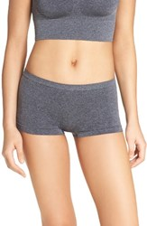 B.Tempt'd Women's By Wacoal Boyshorts Dark Grey Heather