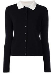 Red Valentino Classic Collar Cardigan Black