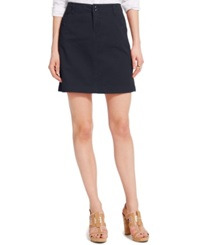 Tommy Hilfiger Solid Chino Skirt Navy