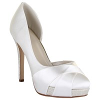 Rainbow Club Kelis Asymmetric Platform Court Shoes Ivory Satin