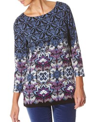 Rafaella Engineer Printed Cotton Tunic Black