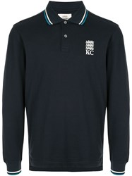 Kent And Curwen Long Sleeved Polo Shirt 60