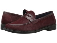 Cole Haan Pinch Campus Penny Dark Red Twine Patent Haircalf Leather Women's Shoes