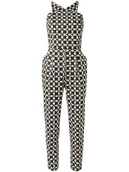 Andrea Marques All Over Print Jumpsuit Women Spandex Elastane Cotton 36 Brown