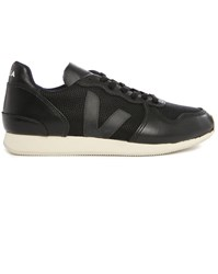 Veja Holiday Black Leather Mesh Sneakers