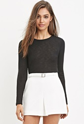 Forever 21 Ribbed Knit Crop Top Black