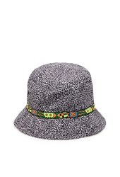 Forever 21 Abstract Print Bucket Hat Black White