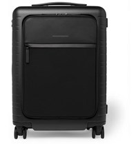 Horizn Studios Model M 55Cm Polycarbonate Nylon And Leather Carry On Suitcase Black