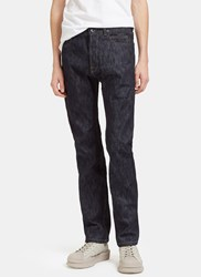 Rick Owens Torino Cut Creased Jeans Navy