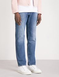 Boss Wash Out Stretch Denim Jeans Bright Blue