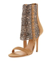 Kallima Suede And Snake Print Bootie Amaretto Natural Alexa Wagner