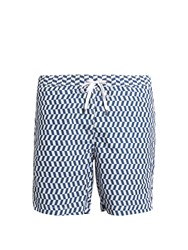 Onia Calder Chevron Print Swim Shorts Navy Multi