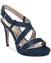 Adrianna Papell Anette Evening Sandals Women's Shoes Navy