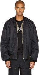 Yves Salomon Black Fur Lined Bomber Jacket