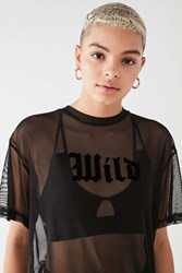 Truly Madly Deeply Wild Mesh Tee Black