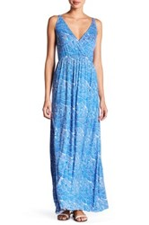 Clayton Andrea Surplice Neck Maxi Dress Multi