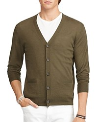 Polo Ralph Lauren Cashmere V Neck Cardigan Sweater Creekbed Olive