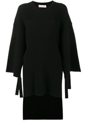Marni Ribbed Kaftan Black