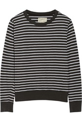 Current Elliott The Shrunken Jogger Striped Cotton Sweatshirt