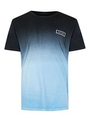 Antioch Black Blue Dip Dye T Shirt