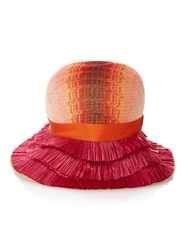 Missoni Mare Fringed Brim Straw Hat