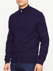 Hackett Zip Front Jumper Navy