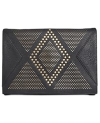 Inc International Concepts Hazell Perforated Clutch Created For Macy's Black