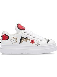 Prada Hearts Patch Sneakers White