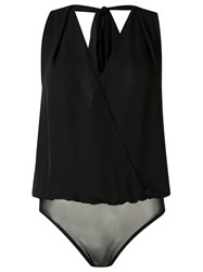 Andrea Marques V Neck Bodysuit Black