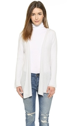 Minnie Rose Hooded Cashmere Duster Concrete