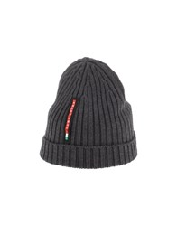 Prada Luna Rossa Accessories Hats Women Grey