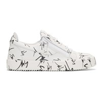 Giuseppe Zanotti White All Over Logo May London Sneakers