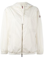 Moncler Hooded Lightweight Jacket White