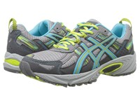 Asics Gel Venture 5 Silver Grey Turquoise Lime Punch Women's Running Shoes Gray