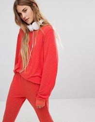 Wildfox Couture Baggy Beach Jumper Eletric Red