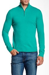 Qi Cashmere Funnel Neck Sweater Green